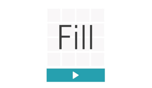 【暇つぶしゲーム②】一筆書きパズルゲームのFillで頭を鍛える?シンプルで面白いスマホゲーム